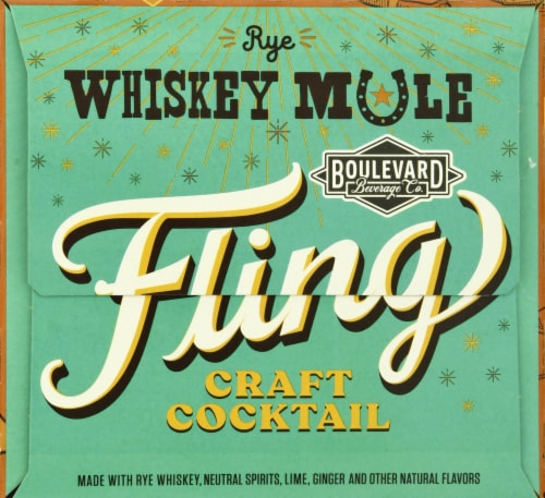 Boulevard Brewing Co. Rye Whiskey Mule Fling Craft Cocktail Perspective: left