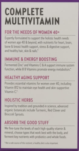 New Chapter Organics Every Woman One Daily 40-Plus Tablets Perspective: left