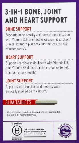 New Chapter Take Care Bone Strength Supplement Slim Tablets Perspective: left