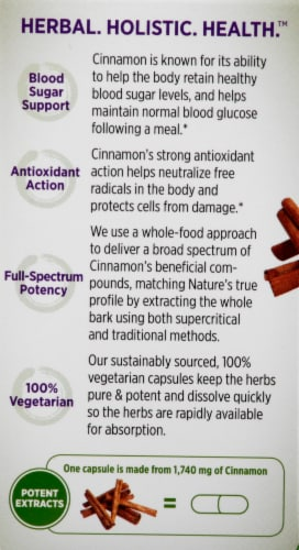 New Chapter Cinnamon Force Dietary Supplement Perspective: left