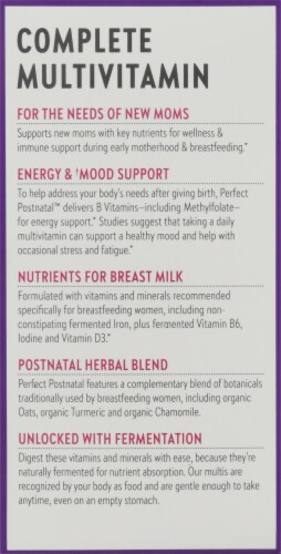 New Chapter Perfect Postnatal Multivitamin Tablets Perspective: left