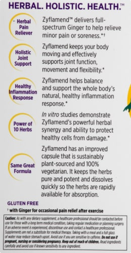 New Chapter Zyflamend Whole Body Dietary Supplement Perspective: left