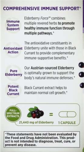 New Chapter Elderberry Force Dietary Supplement Capsules 30 Count Perspective: left