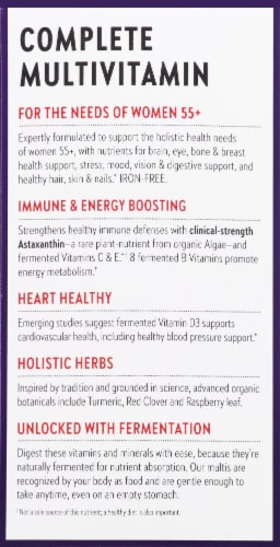 New Chapter Every Woman's One Daily 55 plus Whole Food Multivitamins Perspective: left