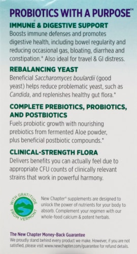 New Chapter Probiotic All-Flora Whole-Food Live Probiotics Vegetarian Capsules Perspective: left