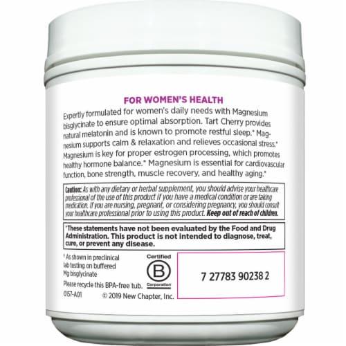 New Chapter Women's Natural Lemon Raspberry Flavor Magnesium Powder Perspective: left