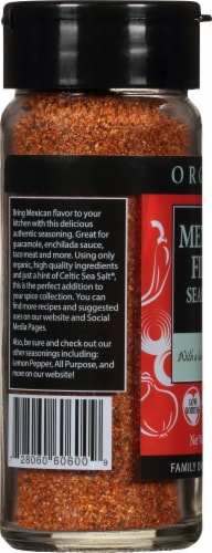 Selina Naturally  Organic Mexican Fiesta Seasoning with a Hint of Celtic Sea Salt Perspective: left