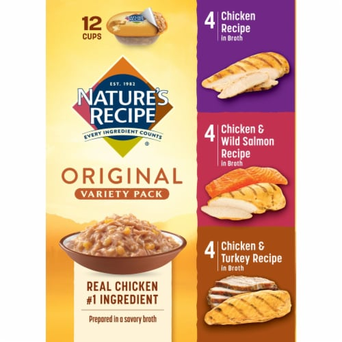 Nature's Recipe Original Variety Pack Dog Food Perspective: left