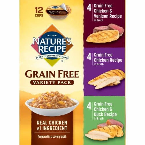 Nature's Recipe Grain Free Variety Pack Dog Food 12 Count Perspective: left