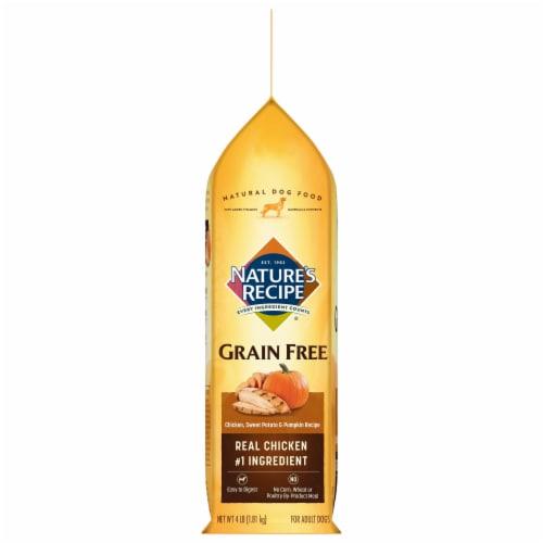 Nature's Recipe Grain Free Chicken Sweet Potato & Pumpkin Dry Dog Food Perspective: left