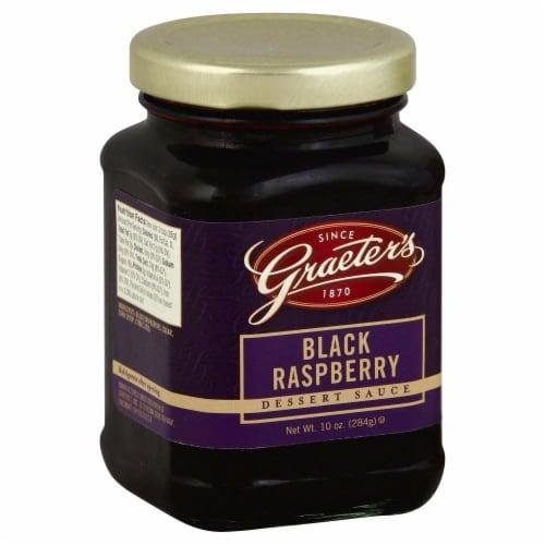Graeter's Black Raspberry Dessert Sauce Perspective: left