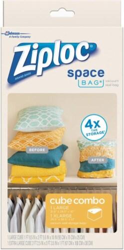 Ziploc® Space Bag® Vacuum Seal Cube Perspective: left