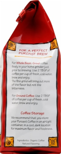 Puroast Organic Vanilla Ground Coffee Perspective: left
