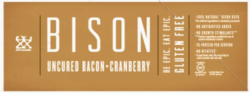 EPIC Uncured Bacon Cranberry Bison Bars Perspective: left