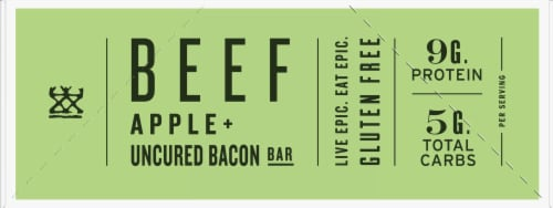 EPIC Beef Apple + Uncured Bacon Bars Perspective: left