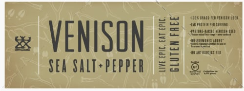 EPIC Sea Salt & Pepper Venison Bars Perspective: left