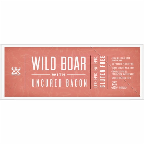 EPIC Wild Boar with Uncured Bacon Bars Perspective: left