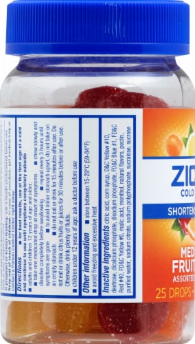 Zicam Cold Remedy Assorted Fruit Flavors Medicated Drops 25 Count Perspective: left
