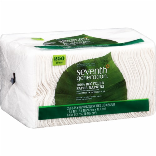 Seventh Generation 100% Recycled Paper Napkins Perspective: left