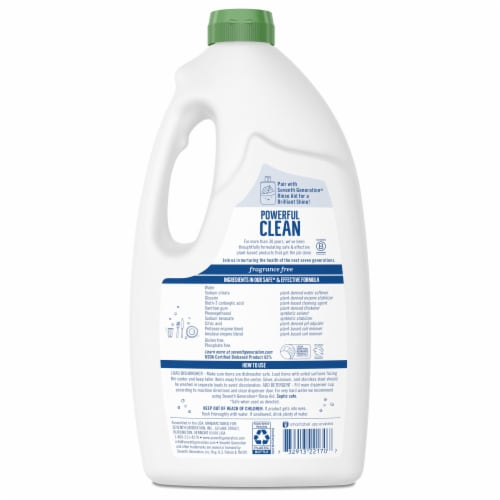 Seventh Generation Free & Clear Dishwasher Detergent Gel Perspective: left