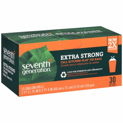 Seventh Generation 13 Gallon Tall Kitchen Bags Perspective: left