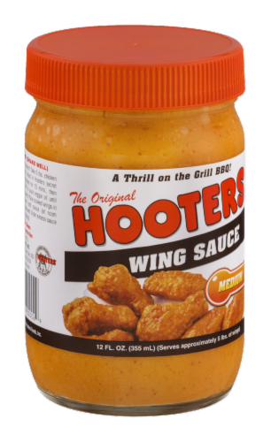 Hooters Medium Wing Sauce Perspective: left