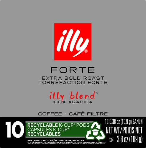 Illy Caffe Forte Extra Dark Roast K-Cup Pods Perspective: left