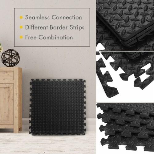 Costway 12Tiles 1/2'' Puzzle Exercise Floor Mats w/EVA Foam Interlocking Tiles (25''x25'') Perspective: left