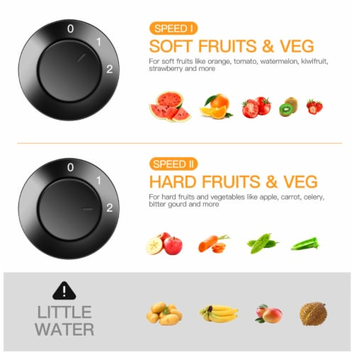 Costway Juicer Machine Centrifugal Juice Extractor Wide Mouth & 2 Speed BPA Free Perspective: left