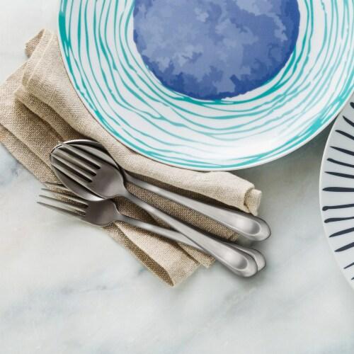 Hampton Forge Bristol Satin Cutlery Set for 12 Perspective: left