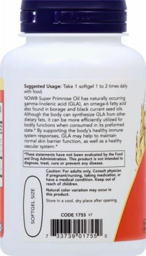 NOW Foods Super Primrose Women's Health Dietary Supplement Softgels 1300mg Perspective: left