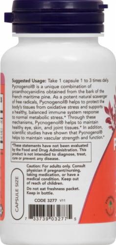 NOW Foods Pycnogenol Dietary Supplement Vegetarian Capsules 60mg Perspective: left
