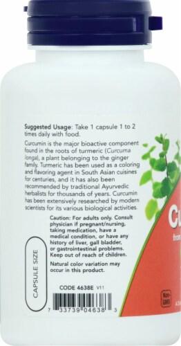 NOW Foods Curcumin Veggie Capsules Perspective: left