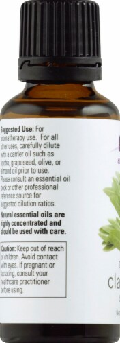 NOW Foods  Essential Oils Clary Sage Perspective: left