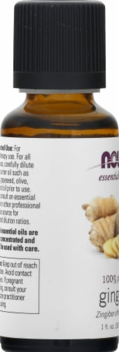NOW Foods Essential Oils Ginger Perspective: left