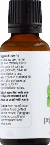 NOW Foods  Essential Oils Peppermint Perspective: left