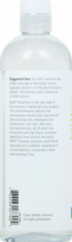 NOW Foods  Solutions Vegetable Glycerine Lotion Perspective: left