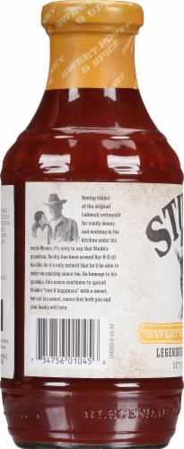Stubb's Sweet Honey & Spice Bar-B-Q Sauce Perspective: left