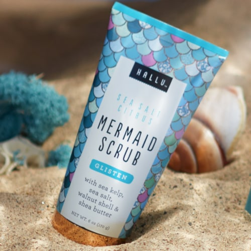 Hallu Glisten Sea Salt Citrus Mermaid Scrub Perspective: left