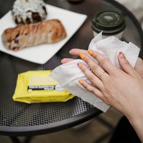 (64PK) pullio - Citrus Antibacterial Hypoallergenic Hand Sanitizer Wipes - 20ct, 1280 Wipes Perspective: left