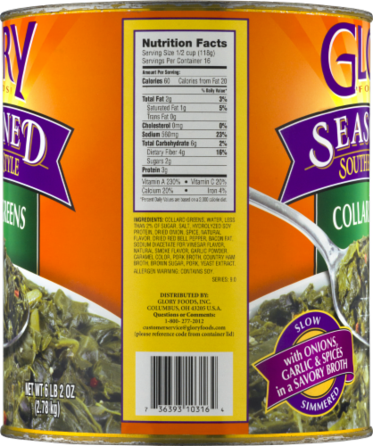 Glory Foods Seasoned Southern Style Collard Greens Perspective: left