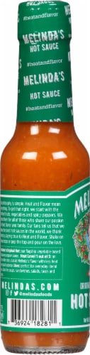 Melindas Hot Pepper Sauce Perspective: left