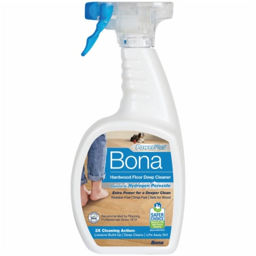Bona  PowerPlus  No Scent Hardwood Floor Cleaner  Liquid  36 oz. - Case Of: 8; Perspective: left