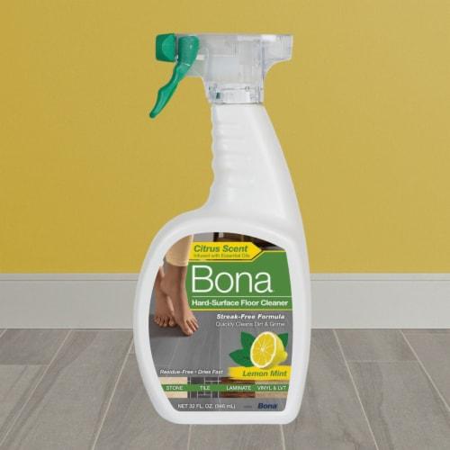 Bona  Lemon Mint Scent Hard Surface Floor Cleaner  Liquid  36 oz. - Case Of: 8; Perspective: left
