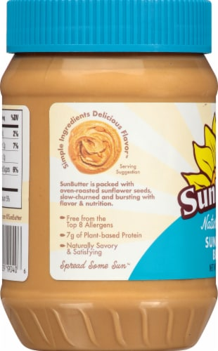 SunButter Natural Crunch Sunflower Seed Spread Perspective: left