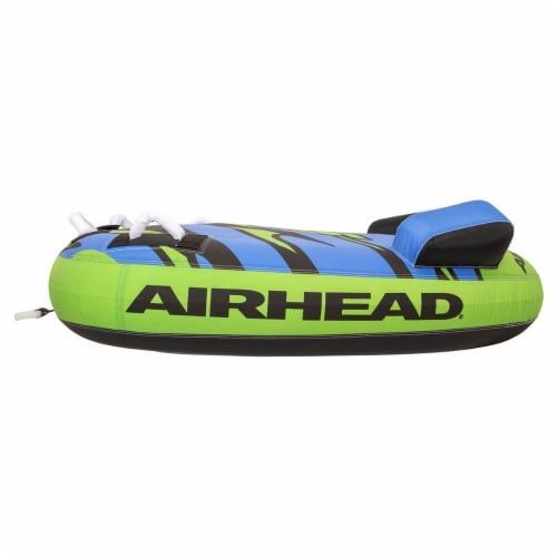 Airhead AHSH-T1 Shield Single Person Towable Inflatable Water Tube w/ 4 Handles Perspective: left