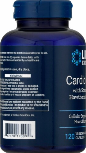 Life Extension Cardio Peak™ with Standardized Hawthorn and Arjuna 120 Count Perspective: left