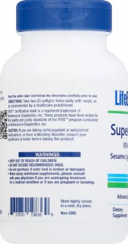 Life Extension Super Omega-3 Advanced Fish Oil Combination Softgels Perspective: left