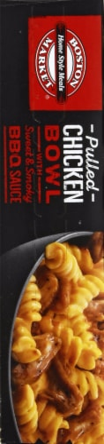 Boston Market Pulled Chicken Bowl with Sweet & Smoky BBQ Sauce Frozen Meal Perspective: left