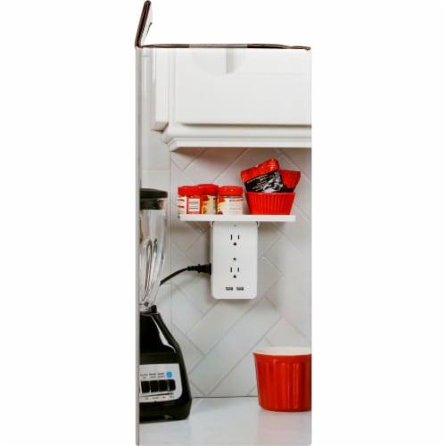 Socket Shelf - White Perspective: left